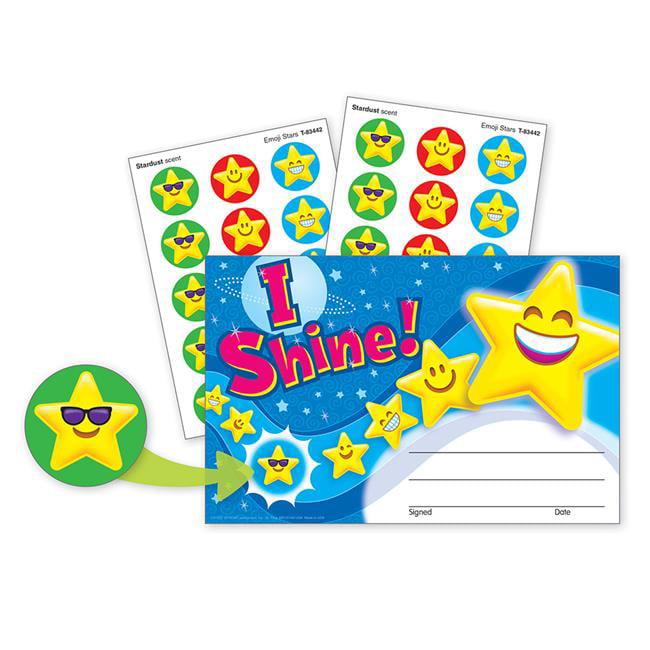Trend Enterprises T-81303 Stinky Stickers Award I Shine Emoji - image 1 de 1