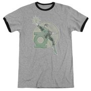 Dco Retro Lantern Iron On Mens Adult Heather Ringer Shirt