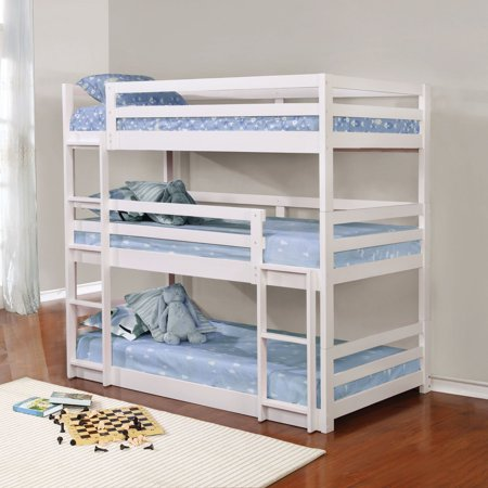 Coaster Furniture Triple Layer Bunk Bed Walmart Com