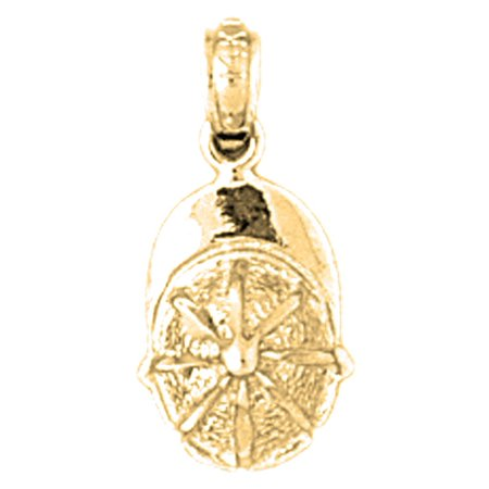 Yellow Gold-plated 925 Sterling Silver Jockey Helmet Pendant - 18 mm (Approx. 0.85 grams)