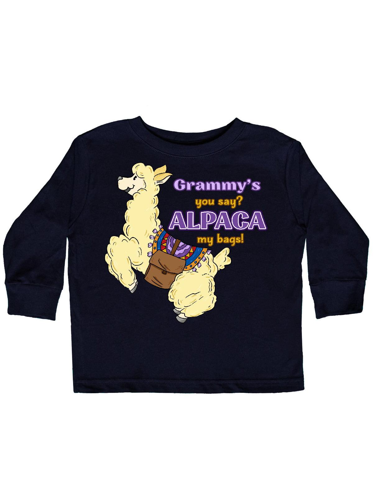inktastic Cute Jumping Alpaca-Grammys You Say Alpaca My Bags Baby T-Shirt