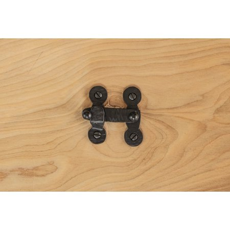 Bar Latch 2 For Cabinets And Furniture Rustic Hammered Iron Black Finish Hand Crafted Borderland Hardware