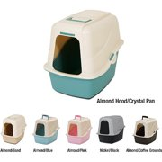 Petmate Covered Cat Litter Box Set With Microban, Large