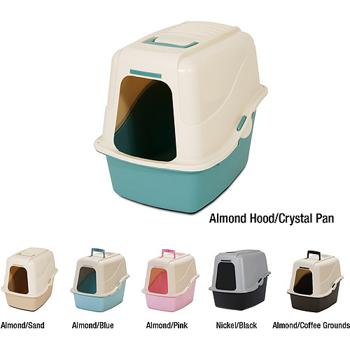 Petmate Hooded Litter Pan Set W Microban Walmart Com