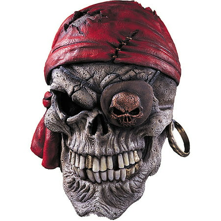 Skull Pirate Mask Adult Halloween - Skull Mask Spirit Halloween