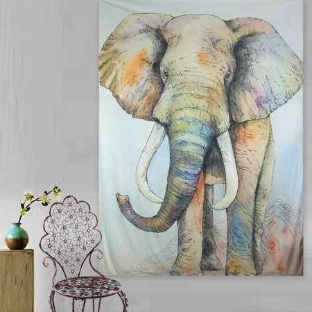 Meigar Elephant Tapestry Wall Hanging Wall Tapestry Mandala Tapestry Bohemian Tapestry Hippie Tapestry Indian Dorm Decor Popular Tapestry for Bedroom Living Room,Elegant Elephant - Elephant Color