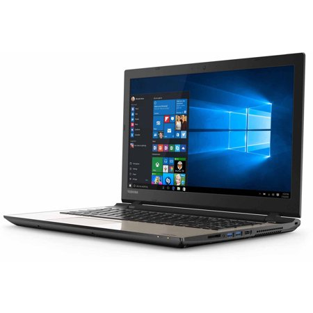 """Toshiba Satin Gold 15.6"""" Satellite L55D-C5318 Laptop PC with AMD A10-8700P Quad-Core Processor, 12GB... by"""