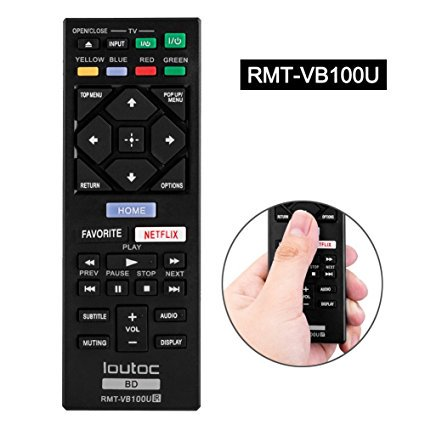 Remote Viewer - Sony RMT-VB100U Replaced Remote Control for Sony Blu-Ray DVD players
