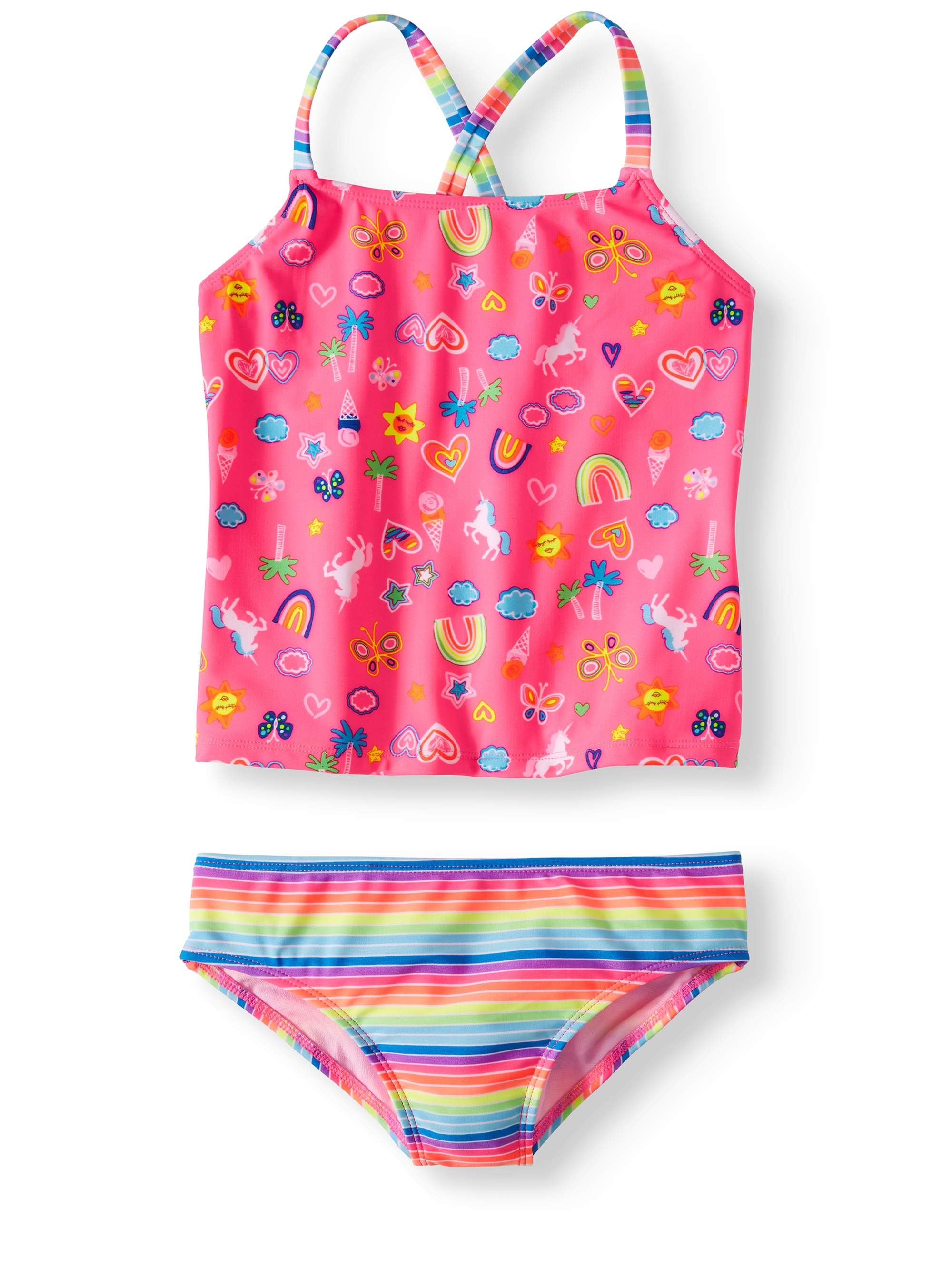 Cross-back Tankini Swimsuit (Little Girls, Big Girls & Big Girls Plus)