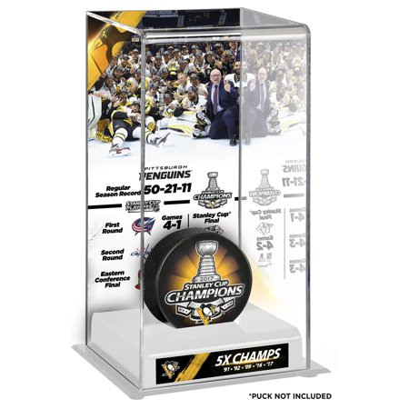 Pittsburgh Penguins Fanatics Authentic 2017 Stanley Cup Champions Logo Deluxe Puck Display Case - No
