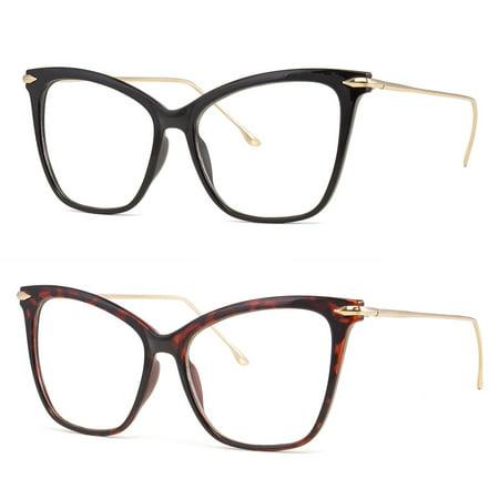 New Clear Lens Cat Eye Glasses Retro 60s Vintage Style Women's (Retro Cat Eye Prescription Glasses)