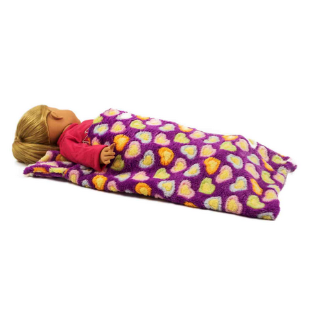 """The Queen's Treasures 18"""" Doll Bedroom Accessories for 18"""" Dolls, 18"""" Doll Sleeping Bag, Purple"""