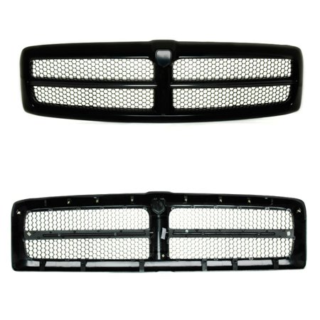 CPP Grill Assembly for Dodge Ram 1500, Ram 2500, Ram 3500 Grille 2500 3500 Billet Grille