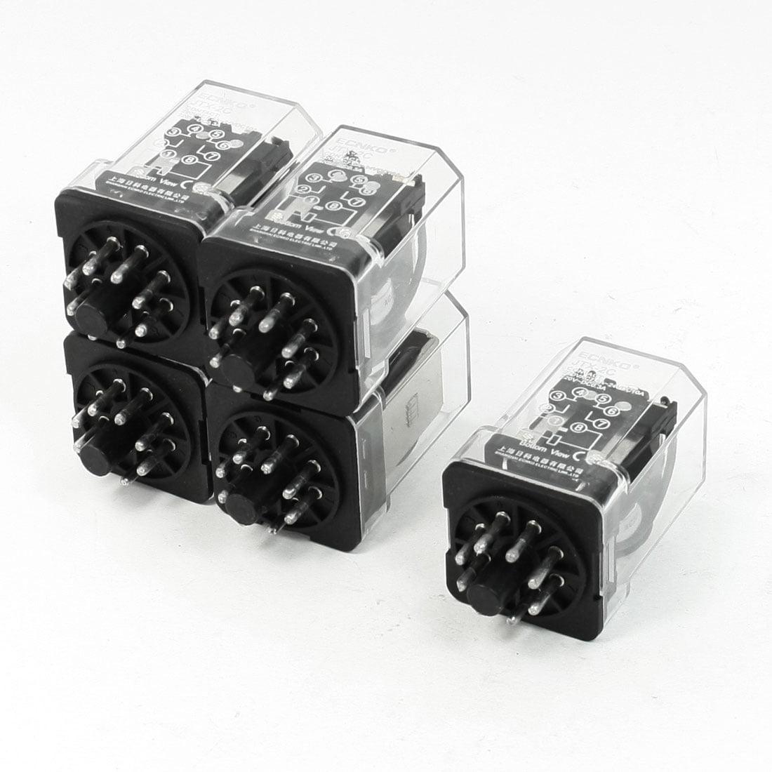 Unique Bargains  220V Coil Electromagnetic Relay 8 Pins 3PDT 2 NO 2 NC JQX-2C 5Pcs - image 1 de 1