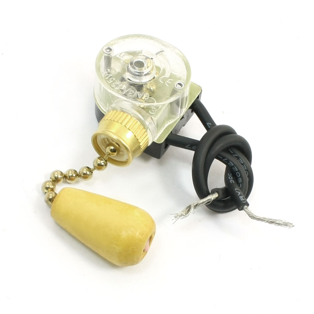 Unique Bargains 3a 250vac Latching Action Ceiling Fan Two Wires Wiring Fans In Series Light Pull Chain Switch
