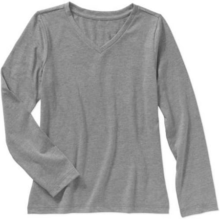 2ff07bc5dd8f Faded Glory - Girls' Long Sleeve Crew Tee - Walmart.com