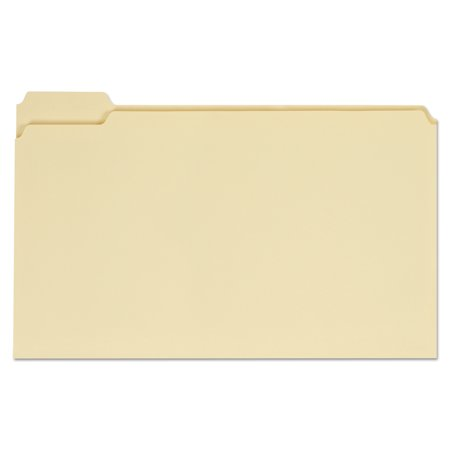 Universal File Folders, 1/5 Cut Assorted, One-Ply Top Tab, Legal, Manila, 100/Box -UNV15115 (1/5 Cut Top Tabs)