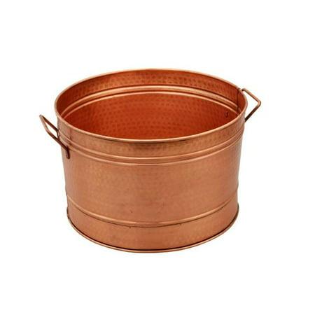Benzara I305-HGM008 Galvanized Farmhouse Style Tub, Copper - image 1 of 1