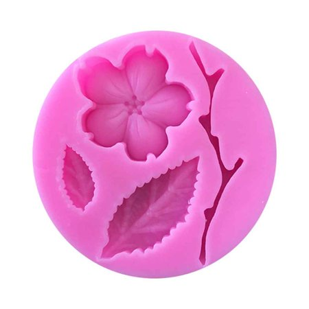 Candy Mould Plum Blossom Flower Branch Shape Fondant Molds Cake Decorating Tools Chocolate Soap Mould (Candy Blossom)