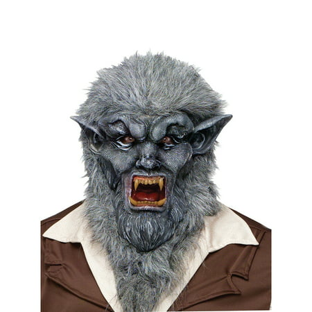 Grey Wolfman Animal Fairytale Halloween Mask - Grey Alien Mask