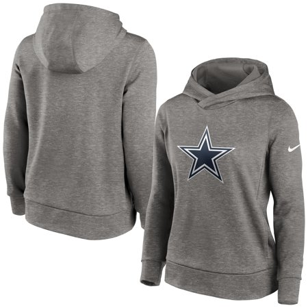 Dallas Cowboys Nike Women's Performance Pullover Hoodie - Heathered Charcoal