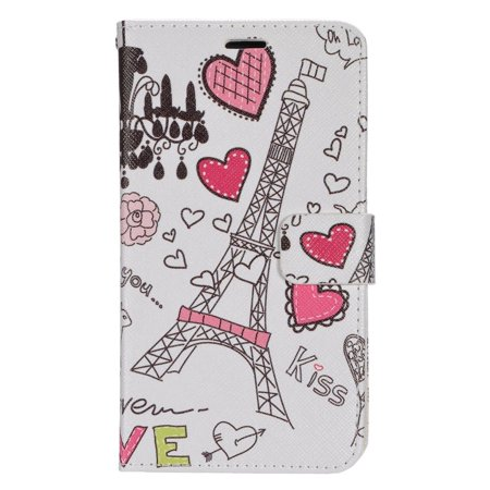 Insten Hearts Flip Wallet Leather Stand Case with Card slot & Photo Display For LG G Stylo - Colorful - image 3 de 3