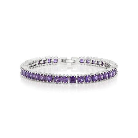 15.00 Ct Sparkling Princess Cut Cubic Zirconia CZ Tennis Bracelet 7 -
