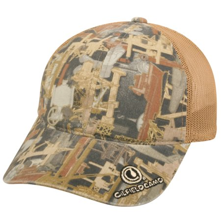Outdoor Cap Ofc 150M Oilfield Mesh Back Oilfield Camo Brown Adult