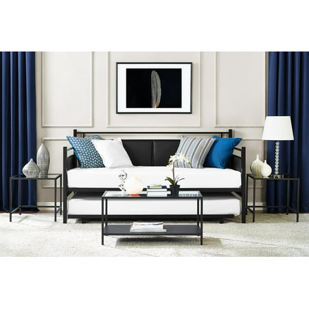 DHP Astoria Metal and Upholstered Daybed and Trundle, Black ()