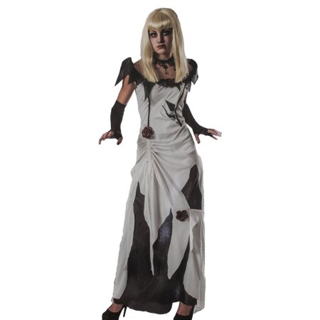 Scary Dentist Halloween Costume (Rubies Creeping Beauty Women?s Scary Tales Halloween Costume Black and White Dress - S -)