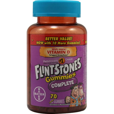 Flintstones Gummies, Complete, 70 gummies (Pack of 2)](Flintstones Adults)