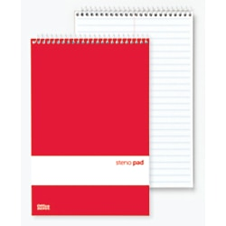 Office Depot Steno Books, 6in. x 9in., Gregg Ruled, 70 Sheets, White, Pack Of 12, 99475