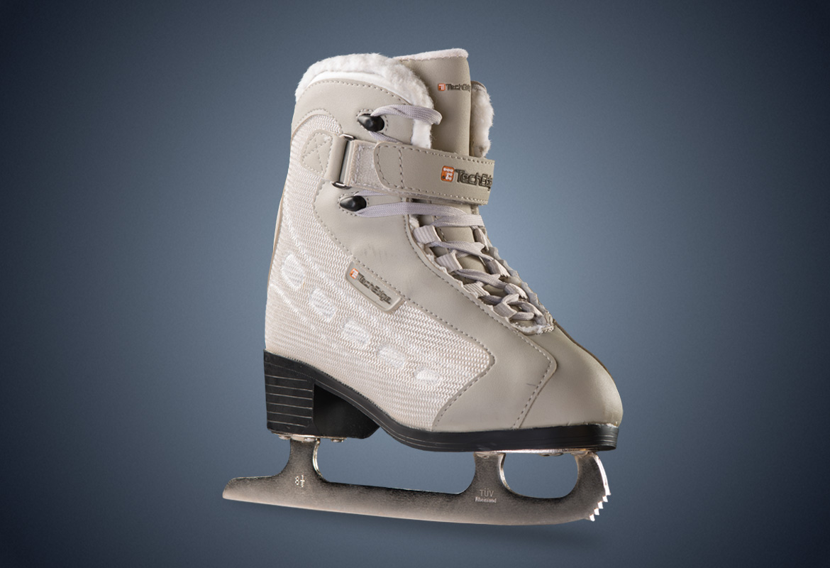 V3 PowerTek Girl's Youth Figure Skates, Size YTH11 by