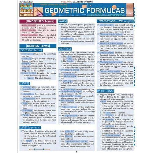 Geometric Formulas Quick Reference Guide
