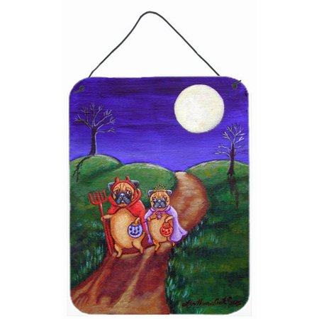 Caroline's Treasures Trick or Treat Halloween Pug by Lyn Cook Painting Print Plaque - Non Cook Halloween Treats