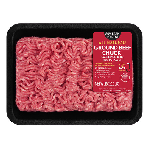 80% Lean/20% Fat Ground Beef Chuck, 1 lb