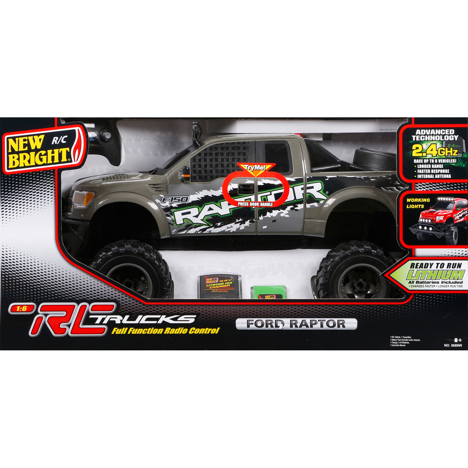 new bright rc 1 6 scale ford raptor truck gray ebay. Black Bedroom Furniture Sets. Home Design Ideas