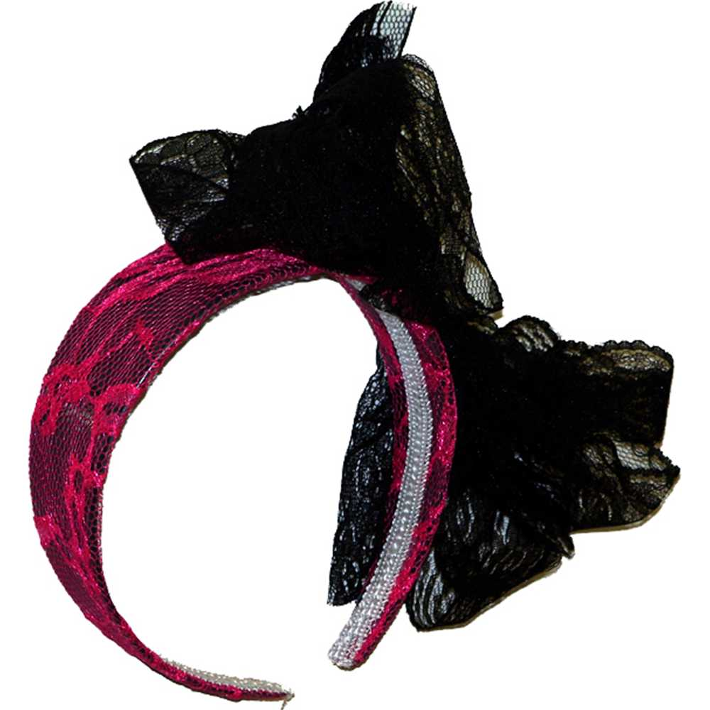 Neon Pink Headband with Bow