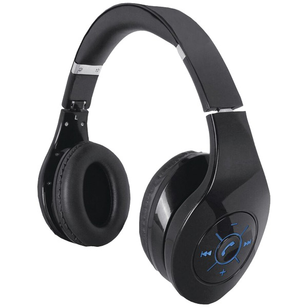 Supersonic IQ-125BT BLACK IQ-125 Bluetooth(R) Stereo Headphones with Microphone & Auxiliary Input (B