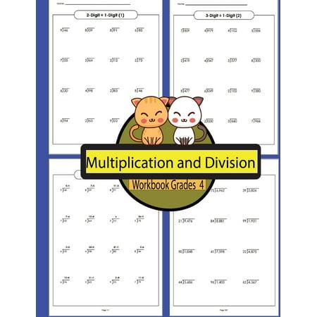 Multiplication and Division Workbook Grades 4 Volume 4: Workbooks Math Practice Worksheet Arithmetic Workbook with Answers for Kids (Paperback) - Multiplication Worksheets Halloween