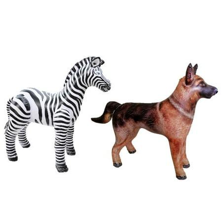 Inflatable Zebra Shepherd Animal Toy Party Gift Kids (ZEB3+SHEPARD) - Zebra Ears And Tail