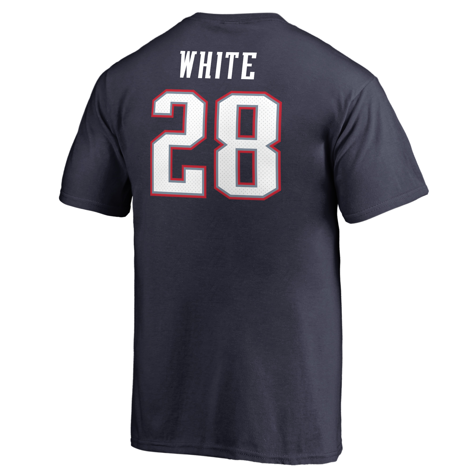 James White New England Patriots NFL Pro Line by Fanatics Branded Youth  Authentic Stack Name   Number T-Shirt - Navy - Walmart.com 3087123b9