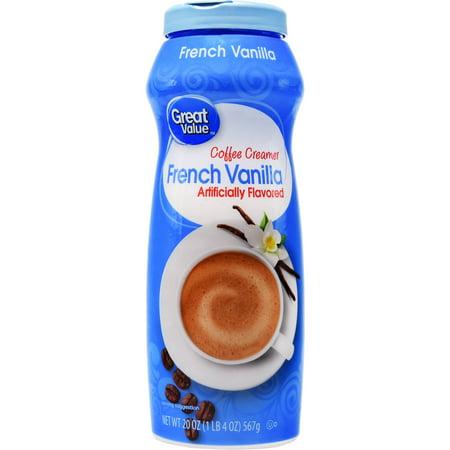 Fat Free French Vanilla Creamer ((6 Pack) Great Value Coffee Creamer, French Vanilla, 20 oz)