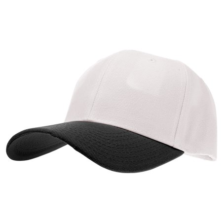 Enimay Baseball Hat Solid Plain & Two Tone Cap Curved Bill Adjustable Outdoor Sport Hat Two Tone White Black One Size