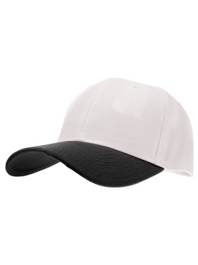 cdb56e0b317 Product Image Enimay Baseball Hat Solid Plain   Two Tone Cap Curved Bill  Adjustable Outdoor Sport Hat Two