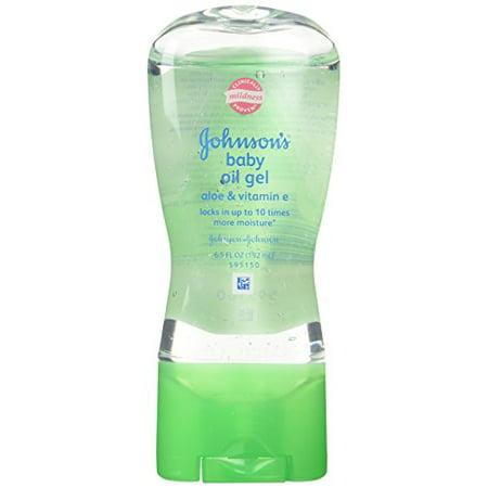 JOHNSON'S Aloe Vera - Vitamin E Baby Oil Gel 6.50oz Each