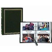 3-ring 2-up slip-in pocket HUNTER-GREEN binder album for 400 photos - 4x6
