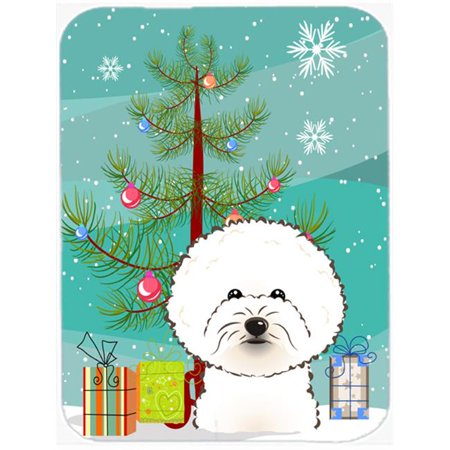 Christmas Tree And Bichon Frise Mouse Pad, Hot Pad & Trivet - image 1 of 1