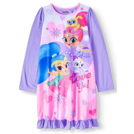 Shimmer and Shine Long Sleeve Nightgown (Big Girl & Little Girl)