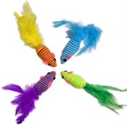 Hypno Mice with Feather tail Size:Pack of 4, Mesmerize Cats For Hours Of Playtime By HDP